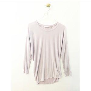 athleta / crew neck long sleeve shirt light lilac